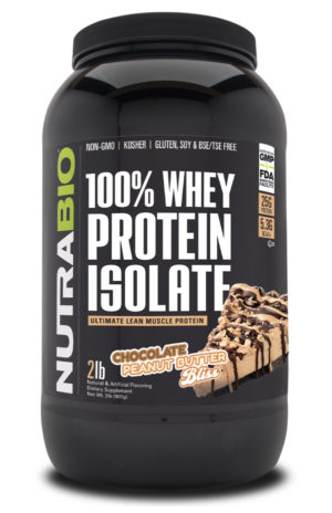 100% Whey Protein Isolate Chocolate Peanut Butter Bliss