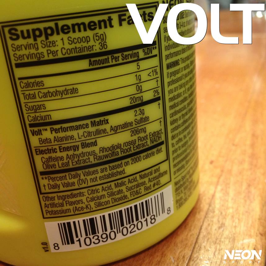 NEON Volt Pre Workout Supplement