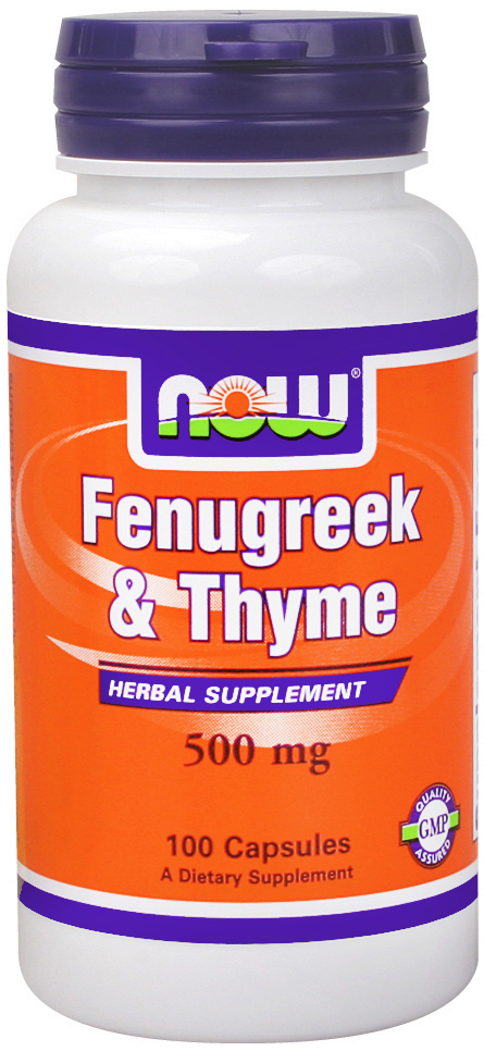 NOW Foods Thyme and Fenugreek