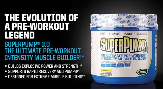 Gaspari Nutrition's SuperPump 3.0 contains newly approved ingredients for enhancing pumps.
