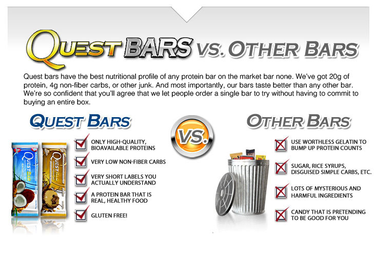 What makes Quest bars different than the competition's protein bars?