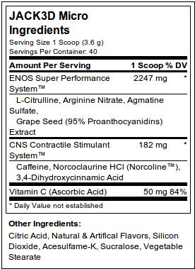 Jack3d Micro Ingredients