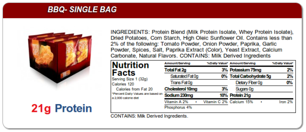 Quest Protein Chips - BBQ Ingredients