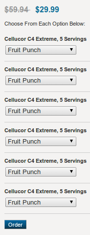 Cellucor C4 Extreme 30 Serving Variety Pack