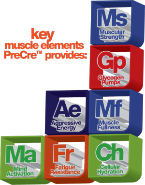 Muscle Elements Pre Cre Periodic Tbale