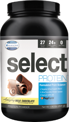 Select Protein is real-deal protein: NOT spiked with free form amino acids!