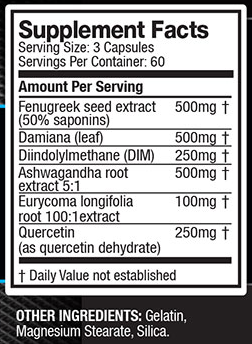 The ingredient label - There's two servings per day, so for our analysis, we'll multiply these dosages by 2 when comparing to the research