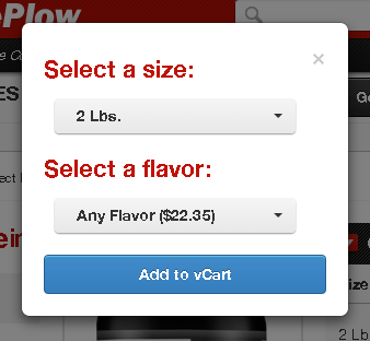 Select a size and flavor
