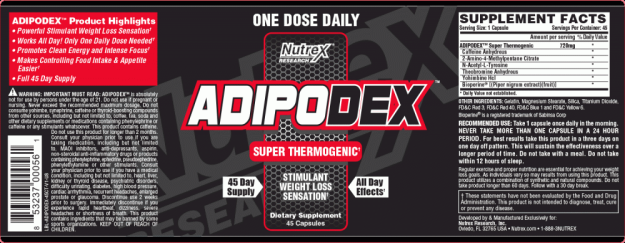 Adipodex Label