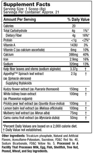 MuscleTech Appedex SX-7 Ingredients