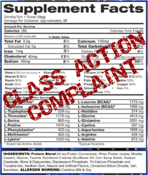 Class Action Lawsuit on Amino Acid Spiking