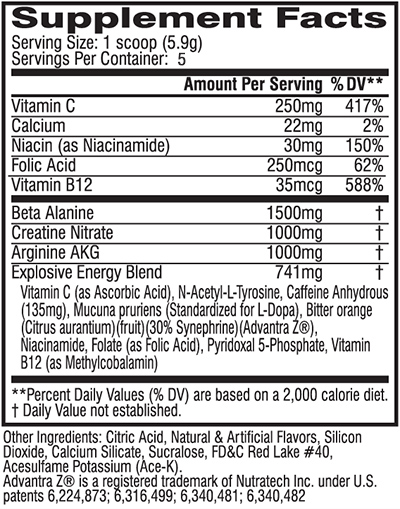 Cellucor C4 Extreme Ingredients