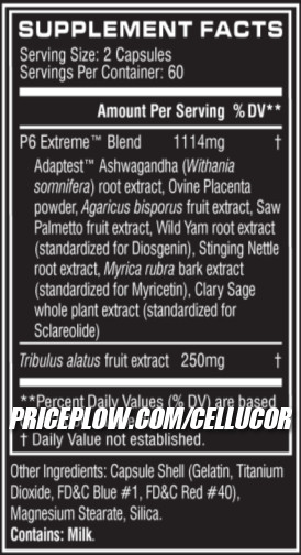 Cellucor P6 New Formula Ingredients