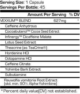 ProSupps Vexxum Ingredients
