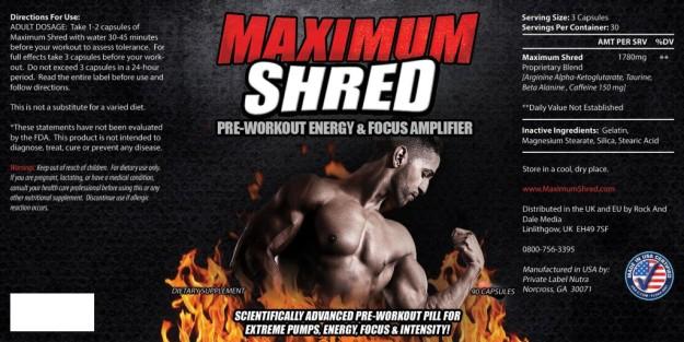 Maximum Shred Ingredients