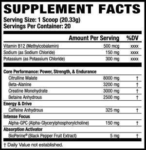 Jacked Factory Altius Ingredients