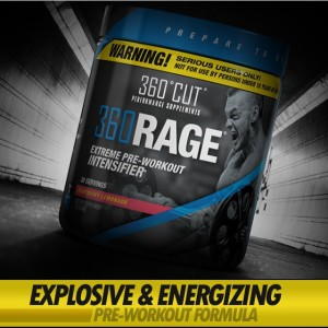 360RAGE's blend of stimulants will give you everything you need to get explosive, long-lasting energy for your long gym sessions.