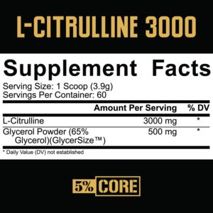 5% Nutrition Core Citrulline