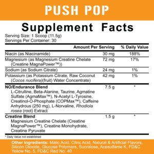 5% Nutrition Kill It PUSH POP Ingredients