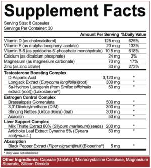 5 Percent Nutrition Post Gear Ingredients