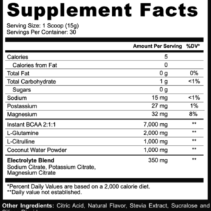 Adaptogen Science Intra Amino Sport Ingredients