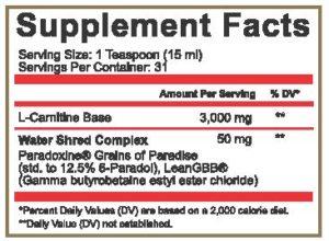 Adaptogen Science L-Carnitine 3000 Ingredients
