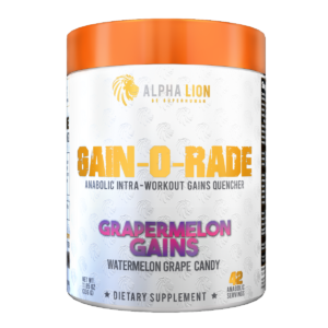 Alpha Lion GAIN-O-RADE Grapermelon Gains Label