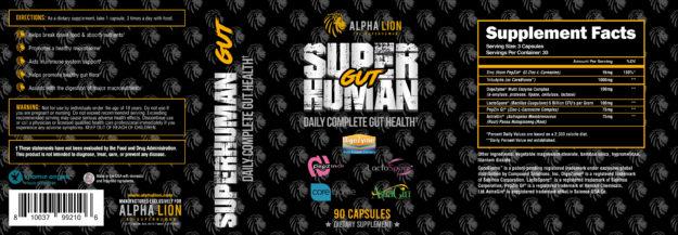 Alpha Lion SuperHuman Gut Full Label