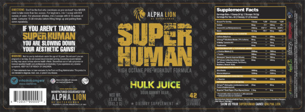 Alpha Lion SuperHuman Label