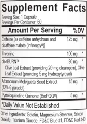 Alphamine Capsules Ingredients