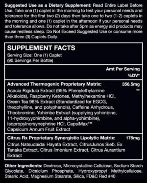 ALR LipoTherm DMAA Ingredients