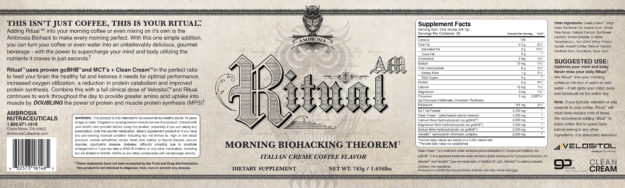 Ambrosia Ritual AM Label