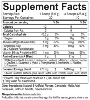 USPLabs AminoLift+ Ingredients