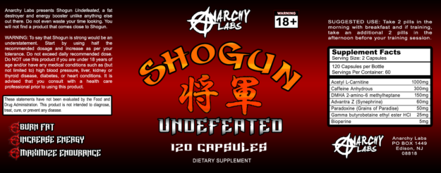 Anarchy Labs Shogun Label