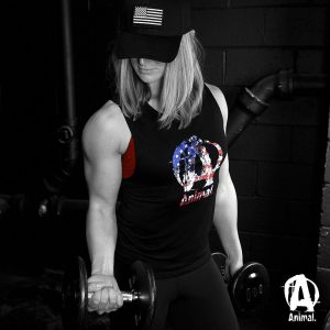 Animal Pak Red White and Blue Woman