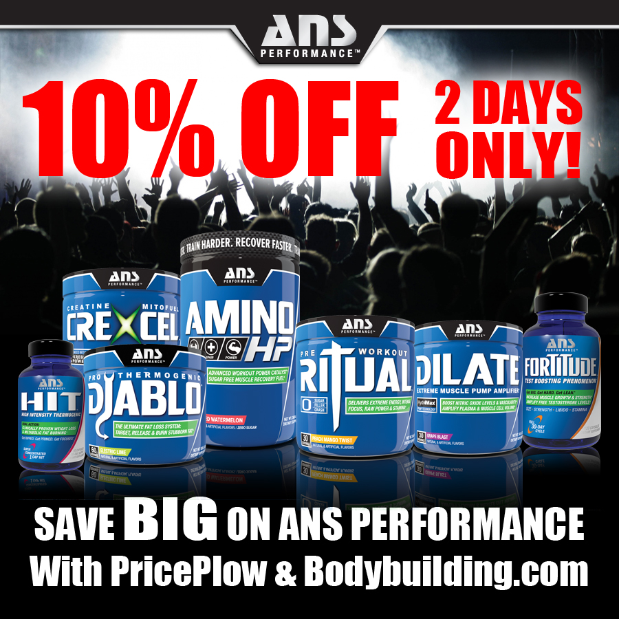 10% off ANS Performance Supplements at PricePlow.com