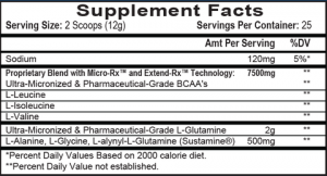 APS Nutrition Chain'd Reaction Ingredients