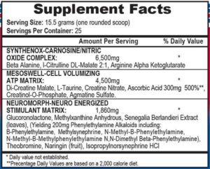 APS Mesomorph Senegalia Ingredients