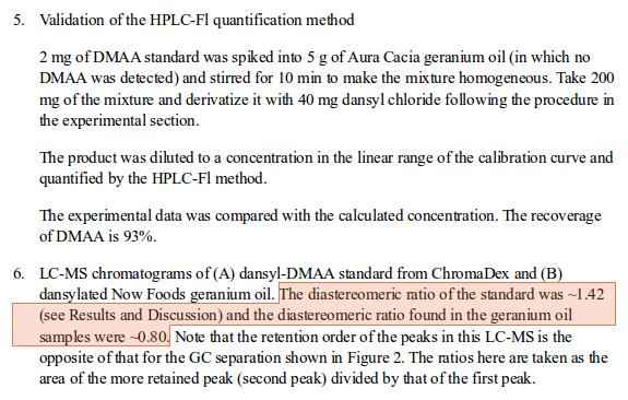 Armstrong Zhang DMAA Geranium Alleged Supplementary Data