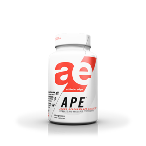 APE (Athletic Performance Enhancer) is AE's Daytime Anti-Estrogen/Testosterone Optimizer supplement that provides three research-backed ingredients in ONE comprehensive formula headlined by a clinical dose of TESTOSURGE™ (patented Fenugreek extract).