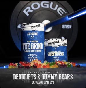 Axe Sledge Deadlifts Gummy Bears Stack