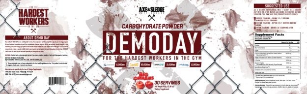 Axe & Sledge Demo Day Label