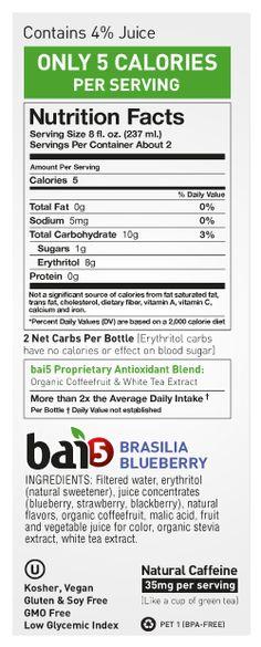 Bai Juice Nutrition Facts Besto Blog