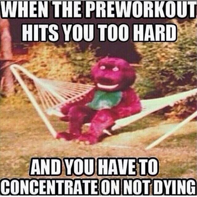 Barney Pre Workout Meme