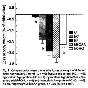 BCAA Weight Loss Severe Caloric Restriction