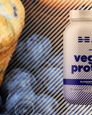 BEAM Vegan Protein Blueberry Muffin Graphic
