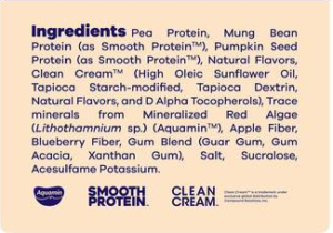 BEAM Vegan Protein Powder Ingredients