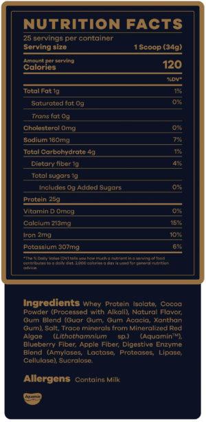 Beam Whey Protein Powder Ingredients
