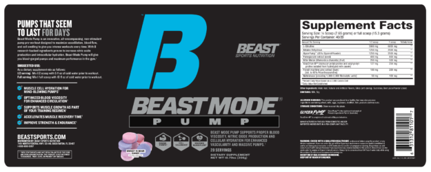 Beast Mode Pump Label