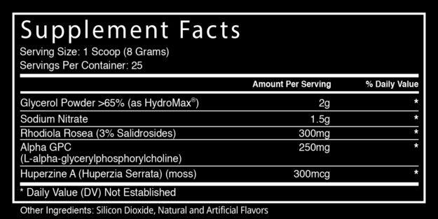 Blackstone Labs Hype Extreme Ingredients
